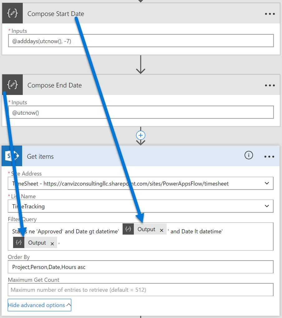 Microsoft Flow Sort Array