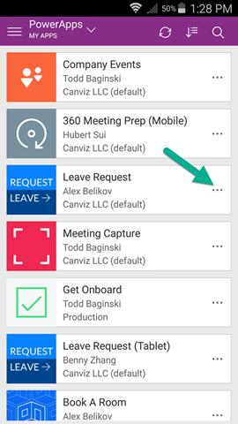 detail screen power apps