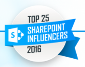Top 25 SharePoint Influencers 2016