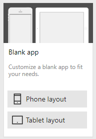 PowerApp Layout Options